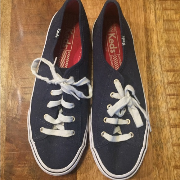 KEDS classic navy and white lace up sneakers